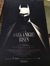 THE DARK KING RISES REGULAR PRINT BY OLLY MOSS MONDO HAND NUMBERED BATMAN