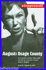 Playbill + August Osage County + Pre-Broadway + Amy Morton , Sally Murphy