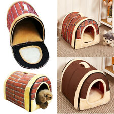 Portable Pet Dog Folding House Kennel Soft Beds Cave Cat Bed Doggy Cushion