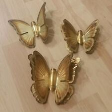 Vintage (3) Butterflies butterfly  Wall Hangings Metal Wall Decor Boho MCM