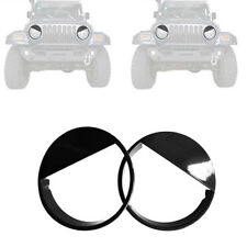 ABS Glossy Black Angry Bird Headlight trim cover for Jeep Wrangler TJ 1997-2006