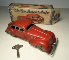 Pre War Gunthermann Distler Tin Windup Red Sedan Made Germany w/ Box