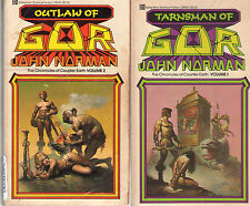 Complete Set Series - Lot of First 21 Gor Books by John Norman Counter Earth
