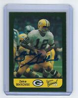 PACKERS Zeke Bratkowski signed SB II card AUTO Autographed Green Bay Super Bowl