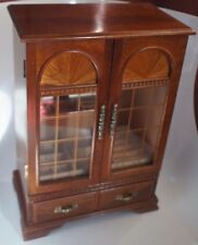 WOODEN CABINET STYLE JEWELRY BOX: FOR USE ON TABLE OR VANITY