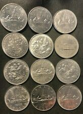 Old Canada Coin Lot - DOLLAR - 12 AU/UNC COINS  - Lot #M23