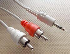159cm Klinke Chinch stereo Audio Kabel 3,5mm Klinkenstecker auf 2x Chinch-St.