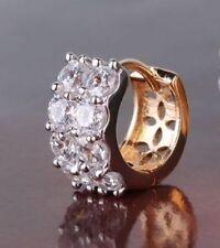 Single 18K Yellow Gold Diamond Gents Huggie Earring 283