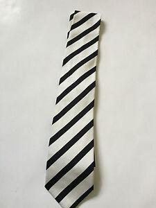 Paul Smith 100% Seide Schwarze Streifen Mit Blumen Futter Krawatte 9cm Klinge