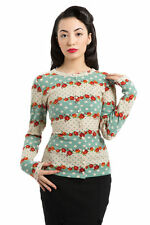 Women's Long Sleeve Acrylic Blend Floral Jumpers & Cardigans