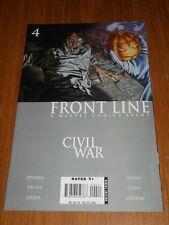 CIVIL WAR FRONT LINE #4 MARVEL COMICS