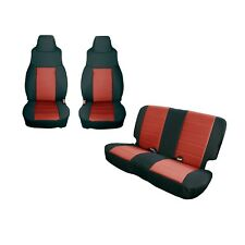 Front And Rear Black & Red Seat Covers for Jeep Wrangler TJ 2003-2006 13293.53