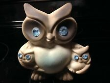 Roselane Sparkler Owl with Owlets California Pottery - Blue Eyes