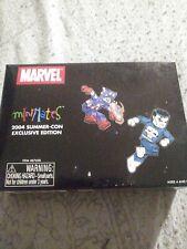 Marvel Punisher + Battle Damaged Captain America 2004 con exclusive minimates