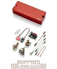 EMG 40DC RED 5 STRING BASS ACTIVE SOAPBAR SOLDERLESS BASS GUITAR PICKUP 40 DC