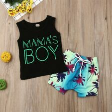 Newborn Infant Baby Boy Vest Tank Top T-shirt Shorts Pants Outfits Clothes Set