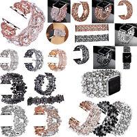 Pearl Rhinestone Wrist Watch Band Strap Bracelets for Apple Watch Iwatch 4 3 2 1