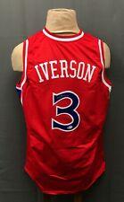 Allen Iverson #3 Signed 76ers Jersey Autographed Sz XL BAS WITNESSED COA HOF