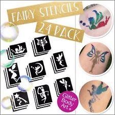 Fairy Glitter Tattoo Stencils - 24 Pack