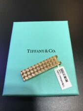 Mens Vintage Tiffany & Co 14K Yellow Gold Textured Marrakesh Tie Clip/Money Clip