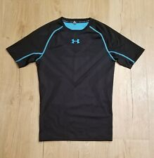 Under Armour Men's Rash Guard size S  black & blue great condition short sleeve