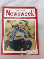Newsweek Magazine January 12 1948 Wallace: Is '52 His Real Goal? WWll