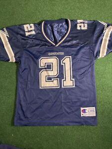 NFL Dallas Cowboys Deion Sanders #21 jersey Youth  Size Large Champion Jersey