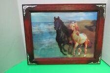 "Hobby Lobby Wild Horses Running Hologram In Wood Frame 18""L x 14""W Hanging"