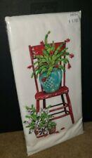 Mary Lake Thompson Christmas Cactus on Chair Kitchen Flour Sack Towel Nip