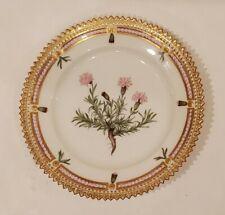 "Royal Copenhagen Flora Danica Serrated Antique Plate 5.5"" Silene acaulis,"