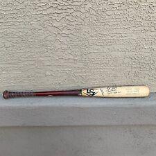 AMADO NUNEZ Signed Autographed CRACKED GAME USED Baseball Bat Chicago White Sox