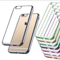 Custodia Cover Silicone per Apple Case Bordo Cromato TPU Bumper Protezione