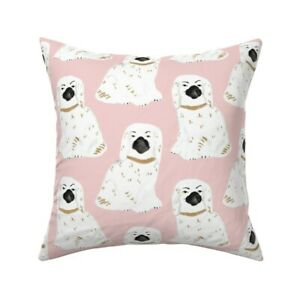 Preppy Chinoiserie Dogs Throw Pillow Cover w Optional Insert by Roostery