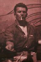 1982 Vintage BRUCE WEBER Military Man Male Smoking Waikiki Bar Photo Art 16X20