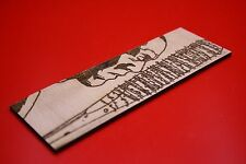 Wooden Bookmark Walking Dead Negan and Lucille Bat Comic Art