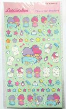 Cute kawaii *Little Twin Stars* sheet of stickers in pretty pastel colours