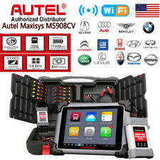 Autel Maxisys Cv Ms908Cv Diagnostic Scanner Commercial Heavy Duty Diesel Trucks