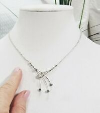Austrian Crystal Spray Pendant Choker Bridal Modernist Wedding Necklace