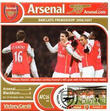 Arsenal 2006-07 Blackburn (Mathieu Flamini) Football Stamp Victory Card #616