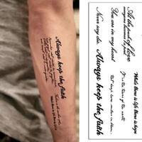 5PC Temporary Tattoos English Word Body Art Women Men Fake Tattoo Sticker US OW