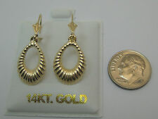 Dangle Lever Backs Style 300 Solid 14k Yellow Gold Earring Dainty