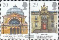 Großbritannien 1261-1262 (kompl.Ausg.) gestempelt 1990 Posteinrichtungen