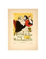 ORIGINAL VINTAGE POSTER REINE DE JOIE BY LAUTREC FOR AFFICHES ILLUSTREES 1896