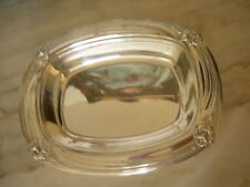 ROGERS BROS 1847 LARGE  ART DECO  SILVERPLATED ''DAFFODIL'' SQuARE TRAY