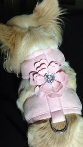 XSmall Pink Bling Flower Pet Dog Harness
