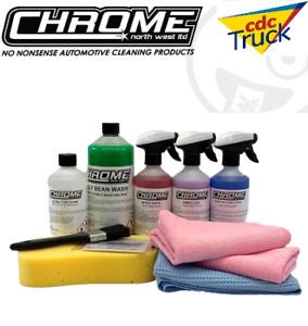 Chrome(NW) EXTERIOR KIT  4 x 500ml Bottles + 1 x 1L Jelly Bean Wash FREE Postage