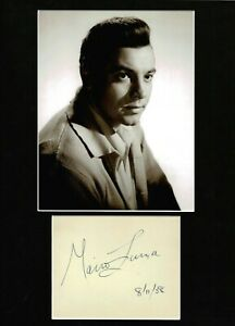 MARIO LANZA TENOR LARGE AUTHENTIC SIGNED AUTOGRAPH DISPLAY UACC VERY SCARCE