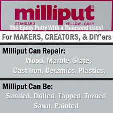 Milliput YELLOW GREY Standard Epoxy Putty Sculpting, General Repairs, DIY