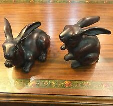 Pair of Chinese Year of the Rabbit Figurines