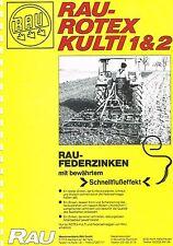Áspero Rotex-edificación 1 & 2, ORIG. folleto 1979